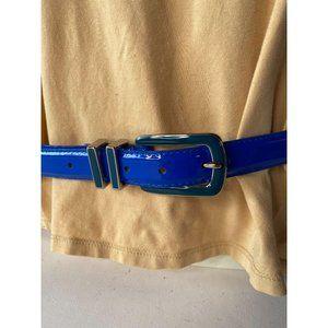 Sapphire Blue Patent Leather Belt Style# 50312P